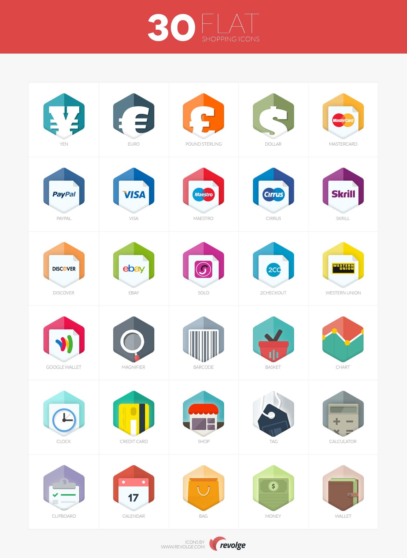 30 Gratis Online-Shop Icons