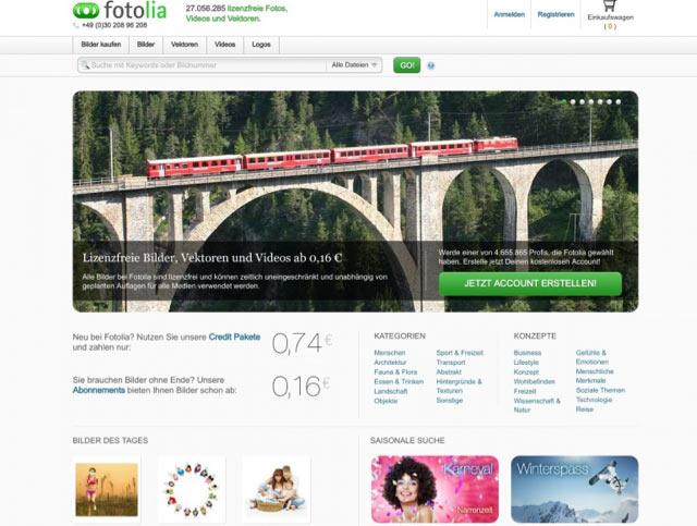 Fotolia - Bilderdatenbank für lizenzfreie Bilder für Blog und Webseiten
