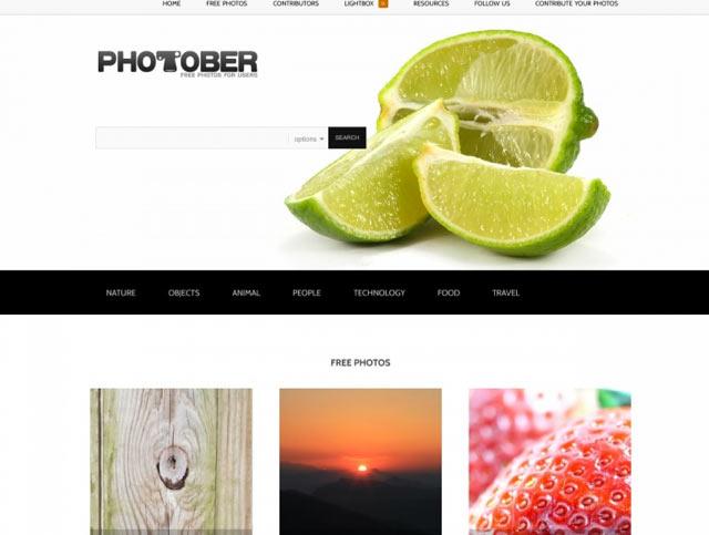 Photober - Bilderdatenbank für lizenzfreie Bilder für Blog und Webseiten