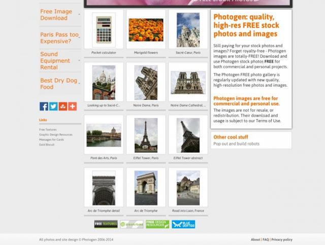 Photogen - Bilderdatenbank für lizenzfreie Bilder für Blog und Webseiten