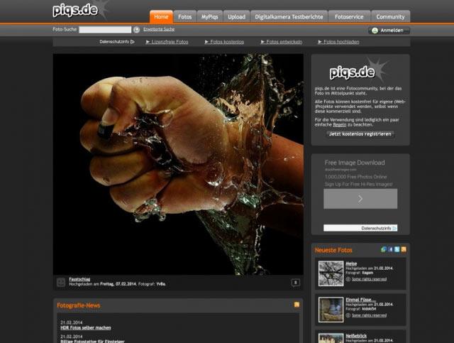 Piqs - Bilderdatenbank für lizenzfreie Bilder für Blog und Webseiten