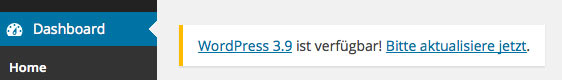 WordPress Update 3.9